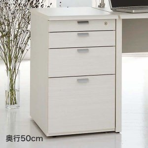 木製 脇机 4段 ワークスタジオ サイドデスク DD-F250 奥行50cm|soho-st