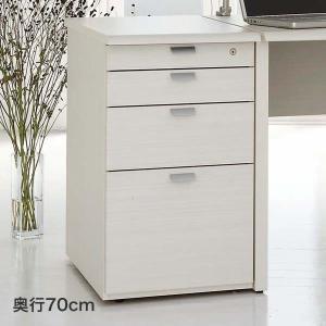 木製 脇机 4段 ワークスタジオ サイドデスク DD-F270 奥行70cm soho-st
