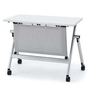 イトーキ 折りたたみテーブル NXシリーズ 天板抗菌加工 アジャスター付(布製幕板付) 幅120cm 奥行45cm 【自社便 開梱・設置付】|soho-st