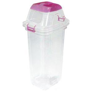 ゴミの分別に便利な樹脂製ダストボックス。本体が透明のため、ゴミ箱の中身が一目瞭然で、分別意識の向上に...