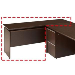 アルミの引き手がアクセントの木製役員用家具X19シリーズの両袖机にこのサイドテーブルをあわせると、L...