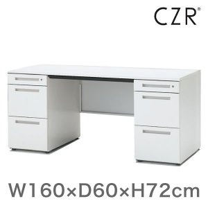 オフィスデスク イトーキ CZRシリーズ 両袖デスク 両袖 机 センター引出しなし 幅160cm 奥行60cm  自社便 開梱・設置付|soho-st