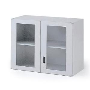 イトーキ THIN LINE(シンラインキャビネット)H700タイプ ガラス両開き扉型 上段専用【自社便 開梱・設置付】|soho-st