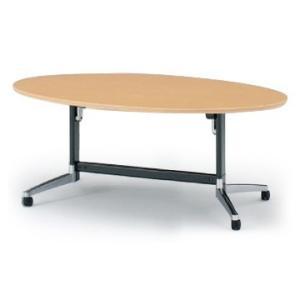 イトーキ テーブル DBシリーズ 120°脚 楕円型天板折りたたみタイプ W200×D110【自社便 開梱・設置付】|soho-st