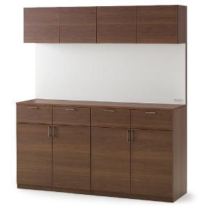 イトーキ 上棚付2連キッチンキャビネット H200 自社便 開梱・設置付|soho-st