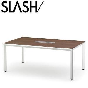 イトーキ SLASH スラッシュテーブル 角テーブル(配線仕様) W200×D100【自社便 開梱・設置付】|soho-st