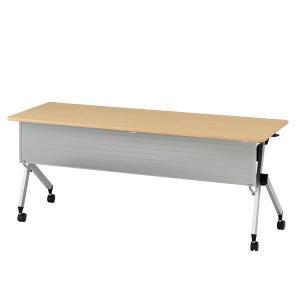 イトーキ 折りたたみテーブル HXシリーズ 天板抗菌加工 幕板付タイプ(棚付) 幅180cm 奥行45cm 【自社便 開梱・設置付】|soho-st