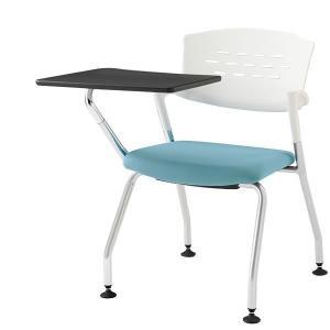 会議椅子 イトーキ カクタスチェア グライド付・メモ台付 布張り 脚:Z5 シルバーメタリック【自社便 開梱・設置付】 soho-st