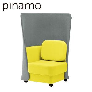 クリエイティブワーク家具 イトーキ ピナモ オフィス用 ソファ 1人掛 1シーター ハイバック|soho-st