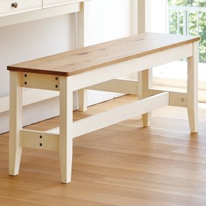【Web限定】イトーキ リビング学習 椅子/  (組立サービス付)カモミール リビングベンチ 幅110cm GCL-B11-NW|soho-st