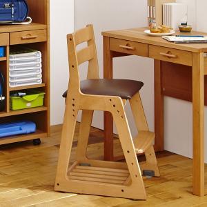 イトーキ 学習チェア 木製チェア KM16 木製 ソフトレザー張り デスクチェア|soho-st