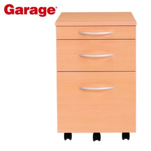 サイドワゴン  Garage 木製 3段 ワゴン 木目 YY-046SC3|soho-st