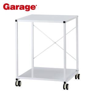 プリンターラック  Garage スチールラック 2段 YS-75 白 ホワイト|soho-st