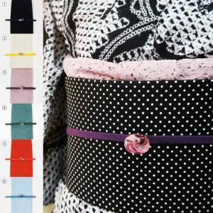 洗える 帯揚げ帯締めセット 3点セット 選べる6色 レースの帯揚 三分紐 硝子の帯留め 夏着物 浴衣...