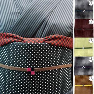 洗える 帯揚げ帯締めセット 3点セット 選べる5色 ちりめんの帯揚 三分紐 帯留め 小紋や紬に最適で...