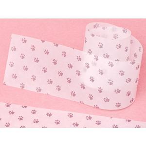 ネコ足柄のグラシン帯紙 100枚束 かわいい肉球デザイン|sokana