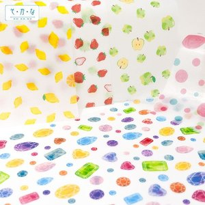 薄紙バラエティセット 紙ちがい3枚入り 透けるデザインペーパー|sokana