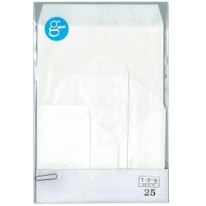 国産グラシン紙封筒5種セット 25枚入 各5枚 A5 洋形2号 ハガキサイズ 名刺サイズ ダイヤ貼り バッグ 平袋|sokana