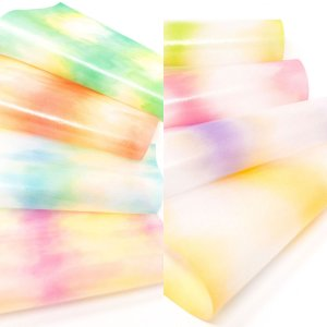 グラシン紙 花彩単柄 折り紙サイズ 150x150mm お花紙 グラデーション ペーパーフラワー素材 薔薇 透けるデザインペーパー|sokana