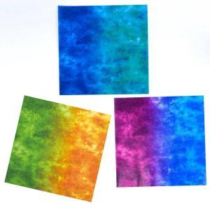 グラシン紙 二色しぼり単色 折り紙サイズ 150x150mm レッド イエロー ミント 透けるデザインペーパー|sokana