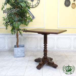 サイドテーブル アンティーク カフェ ヴィンテージ レトロ 店舗什器 クラシック スクエア 角型 ホテル レストラン 4227-FN-5|sokkuriichiba