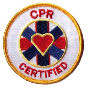 CPR Certified ラウンド ハート ワッペン