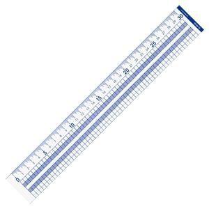 (まとめ) コクヨ 方眼直線定規 30cm CL-RG30 1個 〔×20セット〕