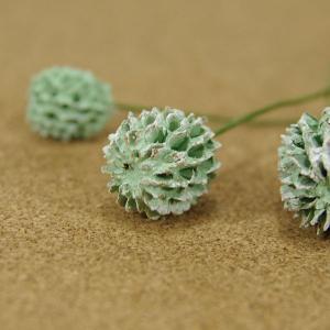 木の実ピック カシュリナ ツートングリーン 3本入 プリザーブドフラワー 花材 そらプリ|solargift
