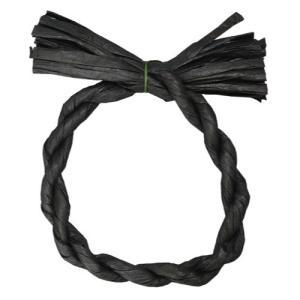 わらルックリースミニ 5個入 ブラック 正月 飾り|solargift