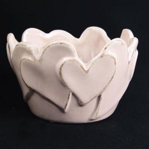 花器 Clay クレイ ピンク hearts hearts 9φ5.5H c221-240-205-510 solargift