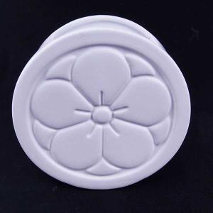 Clay クレイ 花器 UME 和花器 梅 ホワイト Mサイズ 12.5L×5W×10.5Hcm c265-170-478-101 solargift