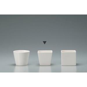 花器 Clay クレイ 角型コンポート ホワイト 11□×9.5Hcm c273-144-773-100 solargift
