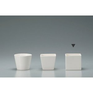 花器 Clay クレイ 角型コンポート ホワイト 10□×9Hcm c275-144-778-100 solargift
