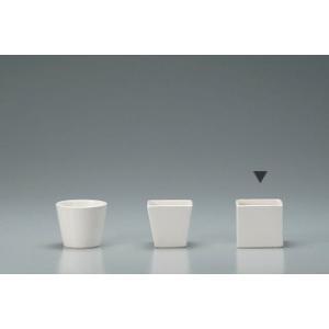 花器 Clay クレイ 角型コンポート ホワイト 8□×7.5Hcm c276-144-777-100 solargift