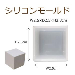 シリコンモールド レジン シリコーン型 キューブ 2個入り 20mm×20mm ハンドクラフト 固まるハーバリウム|solargift
