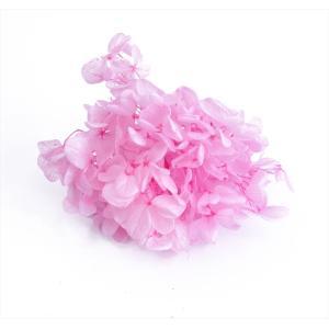 プリザーブドフラワー 花材 箱 Nアジサイ ピンク 約22g|solargift