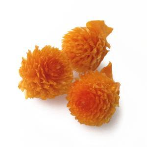 そらプリ 花材 千日紅・プリザーブド・ヘッド フルーティオレンジ 3輪 小分け 橙 大地農園の画像