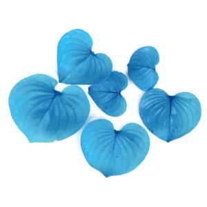 プリザーブドフラワー 花材 ハートリーフ ビビットブルー 小分け 6枚 そらプリの画像