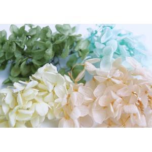 そらプリ プリザーブドフラワー 花材 アジサイ 小分け4色 グリーン系ミックス 福袋