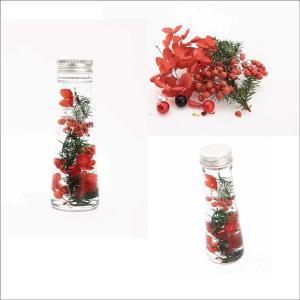 ハーバリウム キット 花材セット レッド プリザーブドフラワー|solargift
