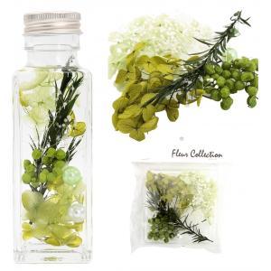プリザーブドフラワー 花材 キット グリーン ドライフラワー|solargift