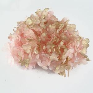 プリザーブドフラワー 材料 花材 ソフトアジサイアナベル ピンクゴールド 小分け|solargift