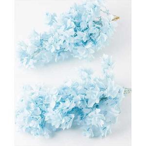 プリザーブドフラワー 花材 カシワバアジサイ ベビーブルー 小分け|solargift
