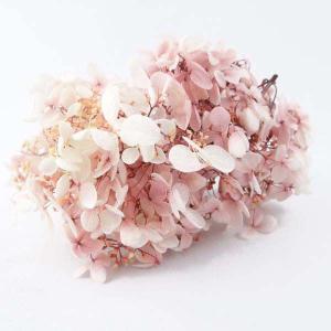 プリザーブドフラワー 花材 ソフトピラミッドアジサイ スフレ ローズホワイト 小分け約4g|solargift