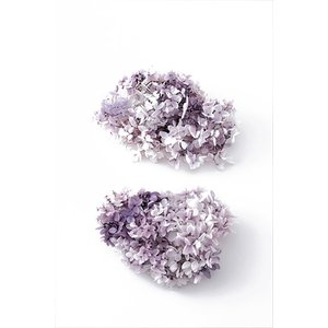 プリザーブドフラワー 花材 ソフトピラミッドアジサイ スフレ パープルホワイト 小分け約4g|solargift
