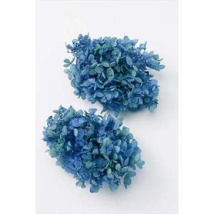 プリザーブドフラワー 花材 ピラミッドアジサイ ブルーライム バラ売り 大地農園 小分け 青 グラデーション 紫陽花の画像