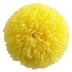 プリザーブドフラワー 花材 ピンポンマム大 イエロー 1輪 菊|solargift