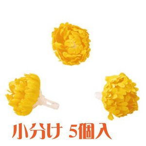 コモレア レフアペパ イエロー 小分け 5個入 アーティシャル 花材|solargift