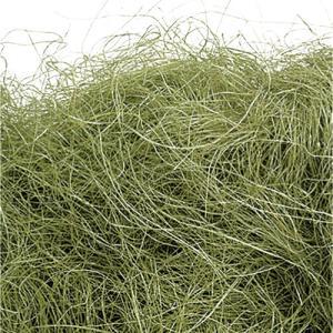 シサル麻 オリーブグリーン 袋 約40g入 プリザーブドフラワー 花材 材料|solargift