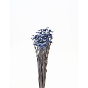 ボタンフラワー ロイヤルブルー 小分け 約1/3〜1/4袋 花材 材料 プリザーブドフラワー 大地農園|solargift